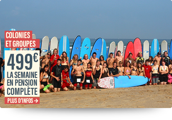 surfcamp biarritz pension complete groupe