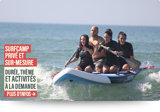 surf camp biarritz sur mesure